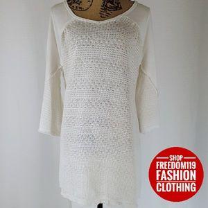 She + Sky | Knit Bell Sleeve Short Tunic Dress (M)